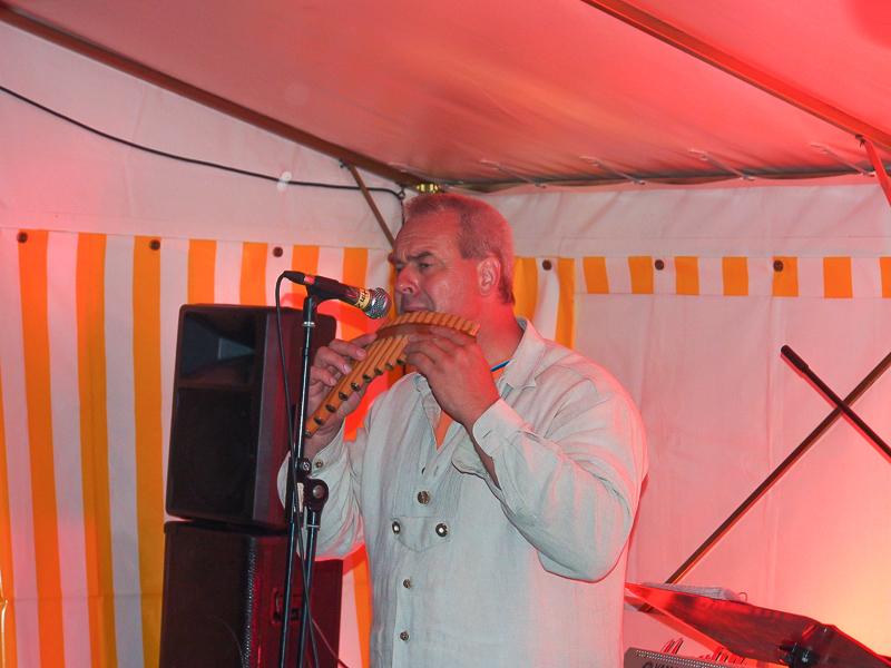 Martin Ziller mit der Panflöte