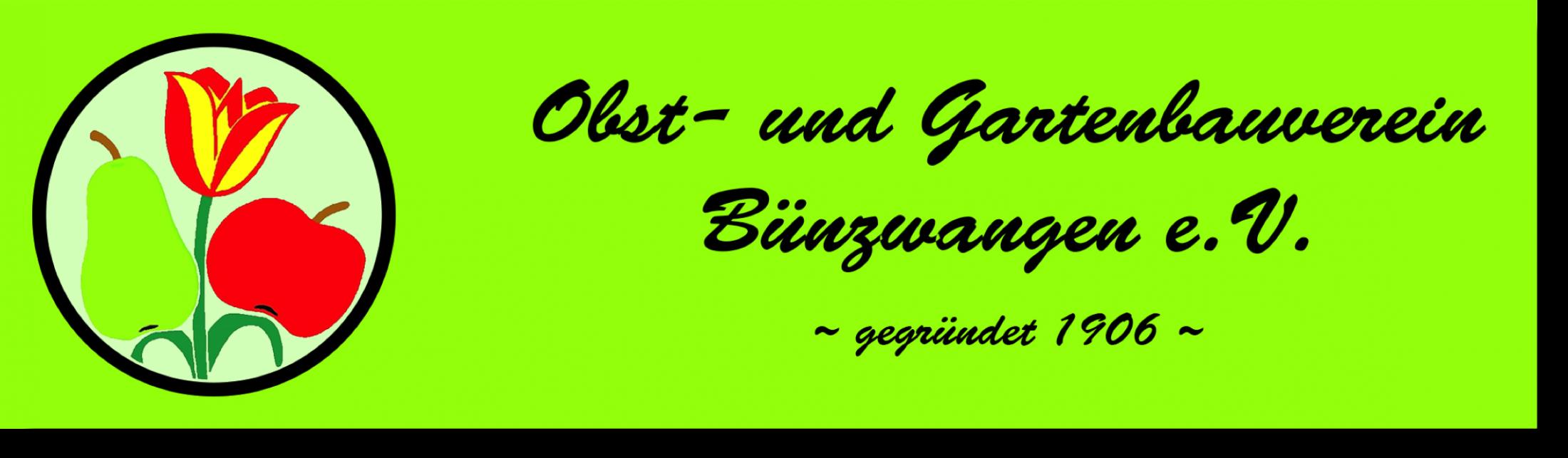 Logo OGV Bünzwangen e.V. mit Schattenwurf