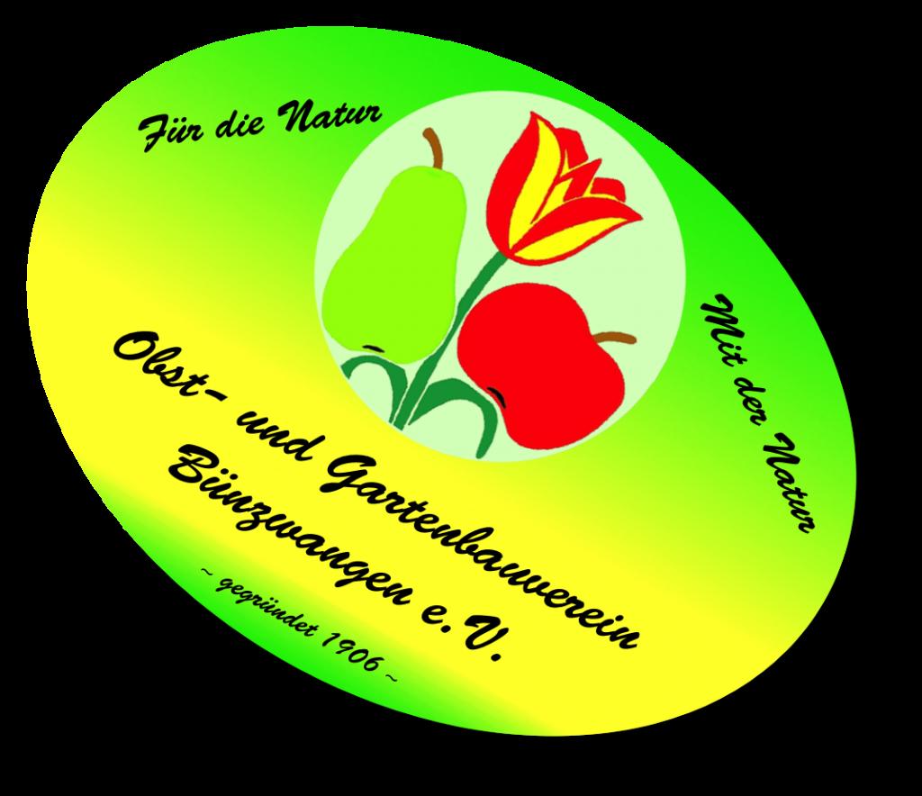 OGV Bünzwangen e.V. ovales Logo mit Schatten