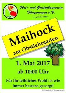 Plakat Maihock 2017 OGV Bünzwangen
